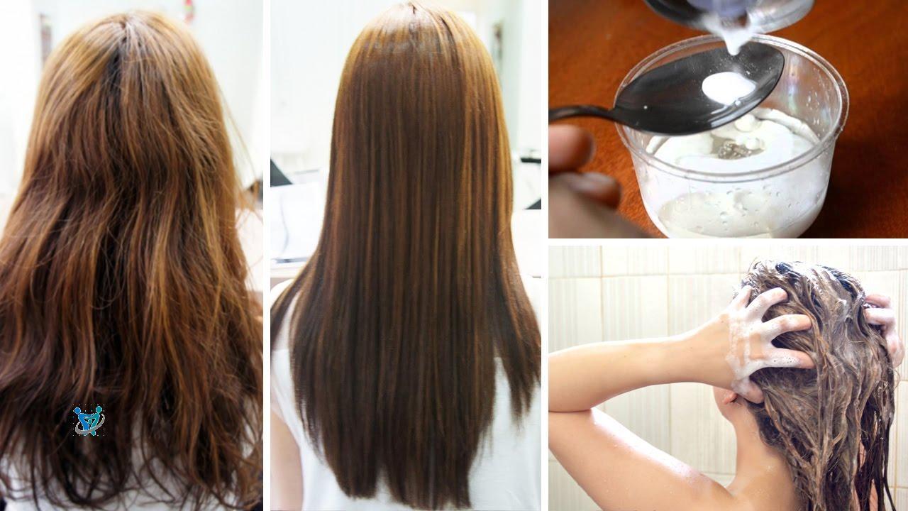 خلطات تنعيم وتطويل الشعر الجاف