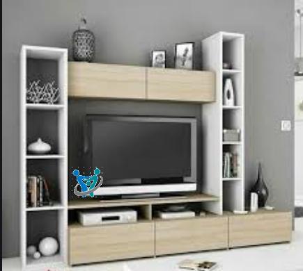 صور مكتبات منزلية فيها التلفاز