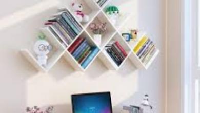 صور مكتبات منزلية للمساحات الضيقة 1